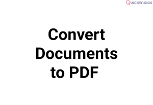 Convert Document, Pictures and Images to Pdf
