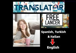 I will translate Spanish, Italian, and Turkish text into English text.