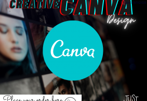 I will design anything using canva