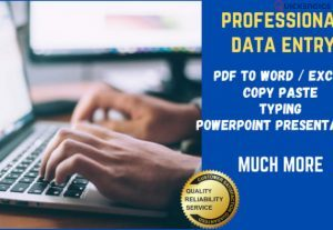 Express Data Entry, Data Typist, Transcriptionist