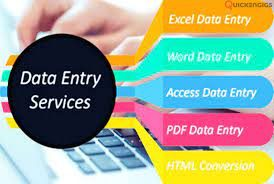 I will do any kind of data entry work.