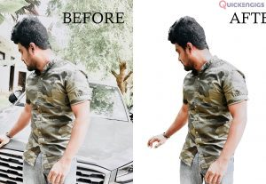 I will do photoshop editing and retouching