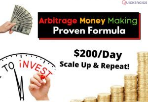 I will give secret quick money online method with arbitrage