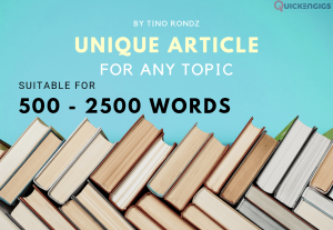 I will Professionally write or re-write an article or blog for any topic