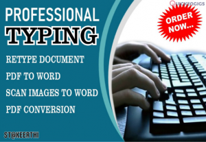 I will do Data Entry & Data Typing Service.