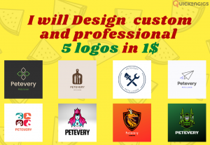 206231I will Design  custom and professional  5 logos in 1$