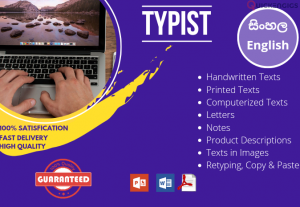 239133I will do sinhala typing and english typing with customizing